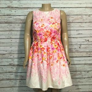 Teeze Me Fit & Flare Party Dress Pink Floral